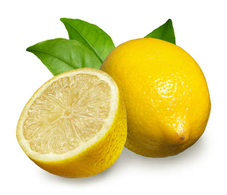 Fresh lemon Isolated on white photo