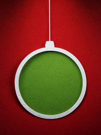 cristmas card: Christmas tree paper cutting design card. Stock Photo