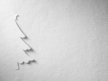 Cristmas tree papier snijden ontwerp kaartje. Stockfoto - 17460117
