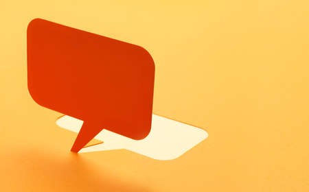 chat balloon: Blank paper speech bubbles of cartoon and comics over background