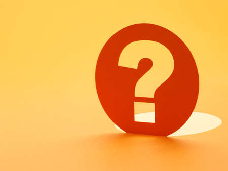 punto di domanda: Carta marchio segno questione concettuale di domande, interrogare, perch� o che cosa.