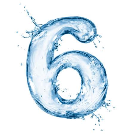 agua liquida carta: Una letra del alfabeto de agua