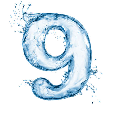 water liquid letter: One letter of water alphabet