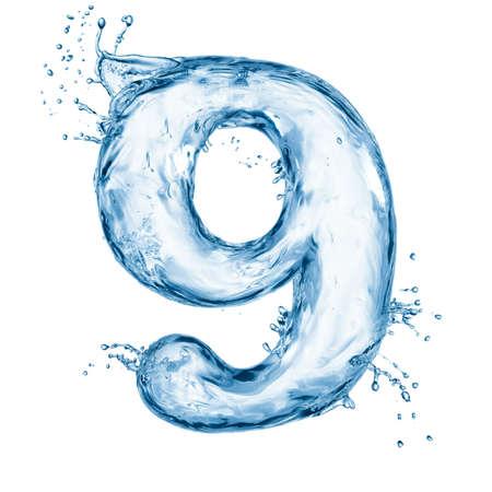 letter liquid water: Una letra del alfabeto de agua