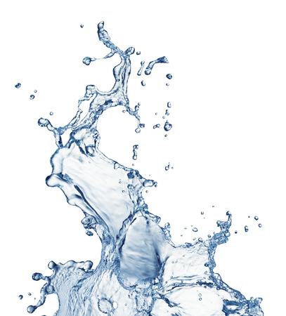 blue water splash isolated on white background Zdjęcie Seryjne