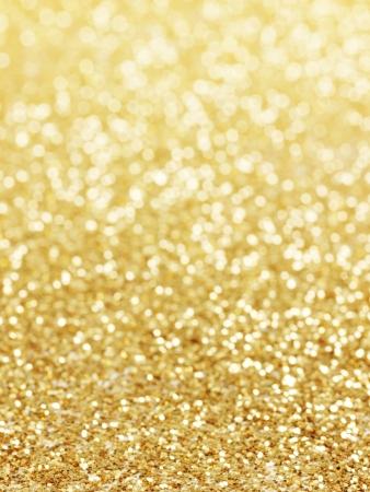 golden background of defocused abstract lights. golden bokeh lights.