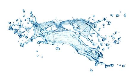 blue water splash isolated on white background Stock Photo