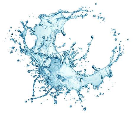 blue water splash isolated on white background Imagens - 38752540
