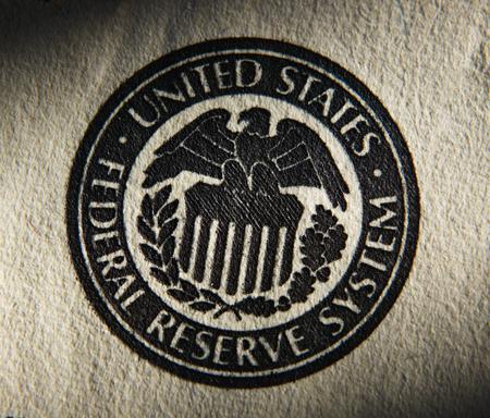 アメリカ合衆国連邦準備制度のシンボル。クローズ アップ