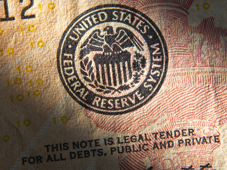 United States Federal Reserve System symbol.Close up Stock Photo - 39733455