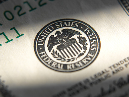 United States Federal Reserve System symbol.Close up