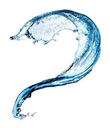 Blue water splashing on a backdrop. Archivio Fotografico