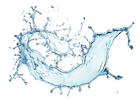 blue water splash isolated on white background Stock Photo - 46058496