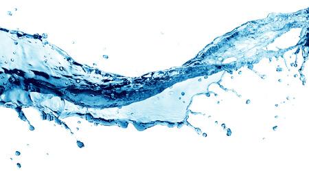 blue water splash isolated on white background Standard-Bild