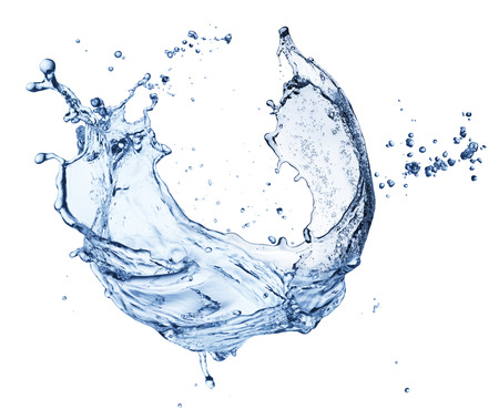 Water splash geïsoleerd op een witte achtergrond. detailopname Stockfoto - 48297425