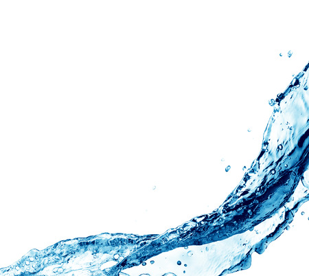 blue water splash isolated on white background Banque d'images