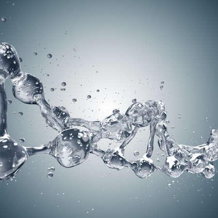 회색 물로부터 DNA 분자 과학 배경