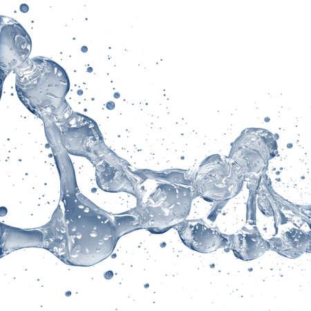 Fondo de la ciencia con las moléculas de ADN de agua en blanco Foto de archivo - 71170523