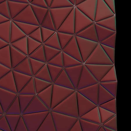 Abstract, eometric triangle red mosaic background