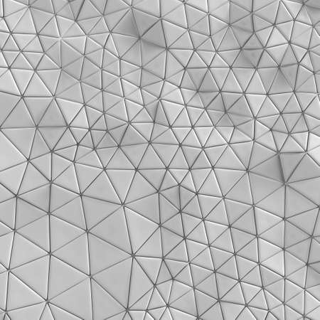 Abstract, geometric triangle silver mosaic background. 3D rendering Stock Photo