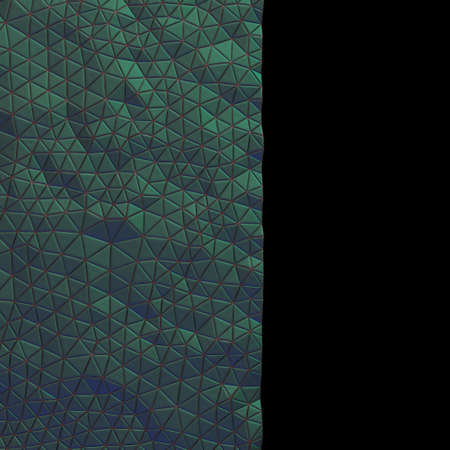 Abstract, eometric triangle green mosaic background. 3D rendering Stock Photo