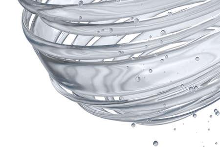3 D 装飾ボール。抽象的な 3 d イラスト。ガラス