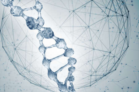 Science background with DNA molecules. 3D rendering Banque d'images