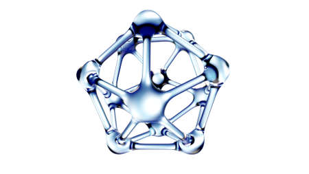 DNA molecule in water over white background. 3d Foto de archivo