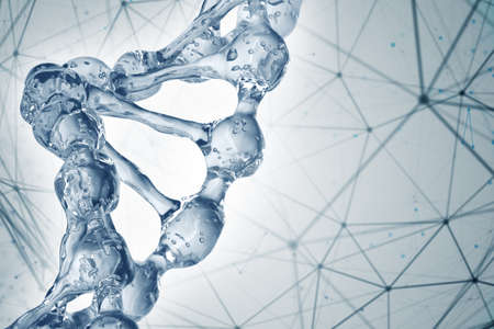 fond de la science avec des molécules de l & # 39 ; adn Banque d'images