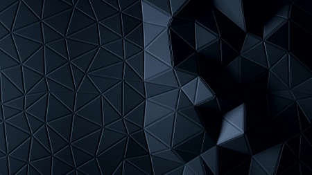 Abstract Polygonal Geometric background graphite color 3d
