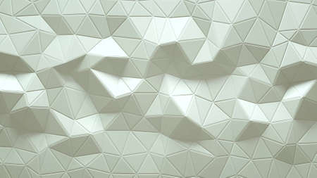 Abstract Polygonal Geometric background white color 3d