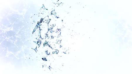 3d soap transparent bubble in the deformation. 3d Banque d'images