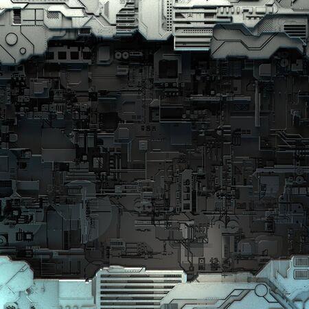 SciFi Panels. Futuristic texture. Spaceship hull geometric pattern.