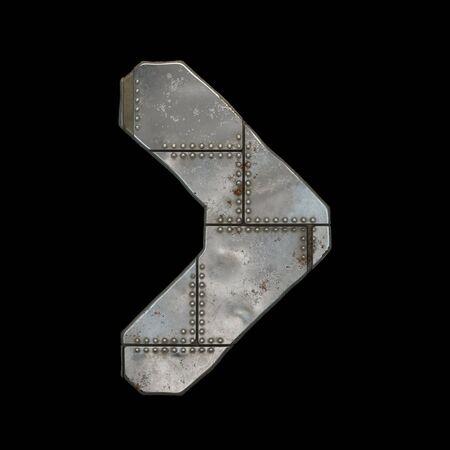 Industrial metal symbol right angle bracket on black background 3d rendering Banco de Imagens - 140936222