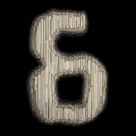 Symbol ampersand made of industrial metal. Isolated on black background. 3d rendering Banco de Imagens