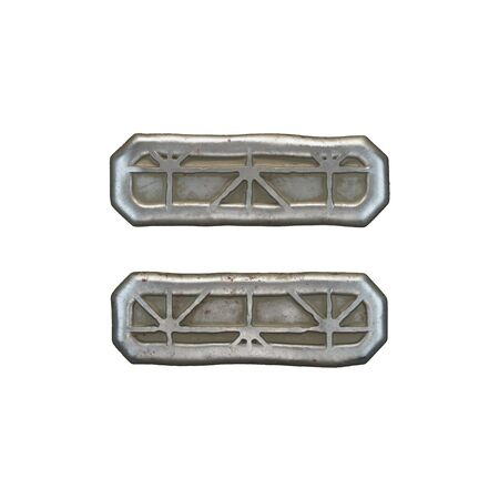 Industrial metal symbol equals on white background 3d rendering