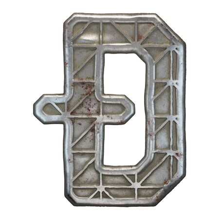 Industrial metal symbol dashcoin on white background 3d rendering Banco de Imagens - 141034092