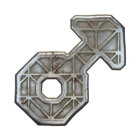 Industrial metal symbol male on white background 3d rendering
