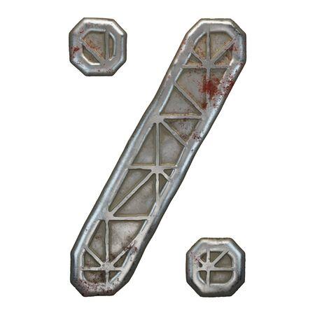 Industrial metal symbol percent on white background 3d rendering Banco de Imagens