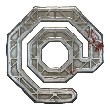 Industrial metal symbol at on white background 3d rendering