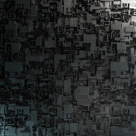 SciFi Panels. Futuristic texture. Spaceship hull geometric pattern. 版權商用圖片 - 141675988