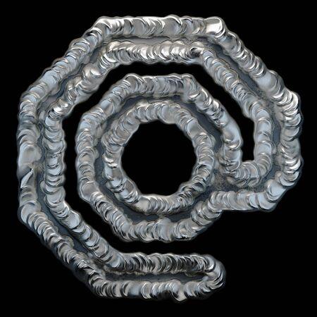 Industrial metal symbol at on black background 3d rendering