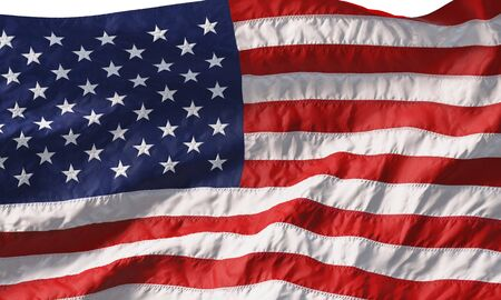 Background made of American flag waving in the wind. 3D rendering 版權商用圖片