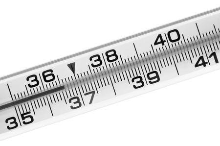 body temperature: Thermometer for measurement of a body temperature 36-6 Stock Photo