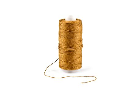basic scheme: Golden threads in the coil on a white background