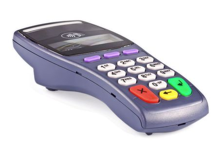The payment terminal contactless for payment of purchases Stock Photo - 5861301