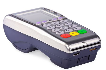 The payment terminal  for payment of purchases photo