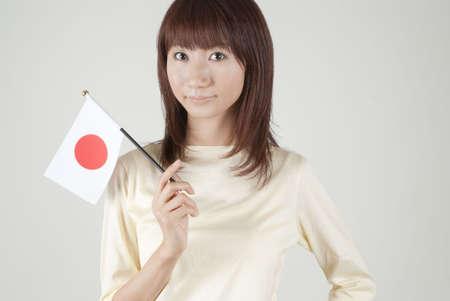 bandera japon: Bandera japonesa de la explotaci�n de joven