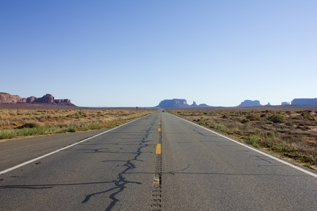 Scenic road to Monument Valley in USA Stock Photo - 10729319