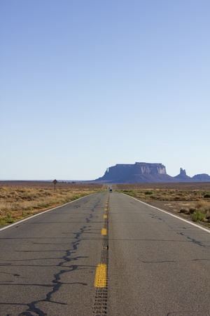 Scenic road to Monument Valley in USA Stock Photo - 10729306